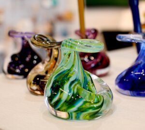 Gift idea for teachers and work colleagues. Pen holders by Weston Glass $21.